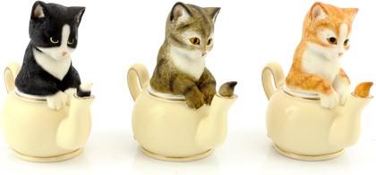 Статуэтка Котёнок в чайнике, 3 вида, 10см The Leonardo Collection LP22248