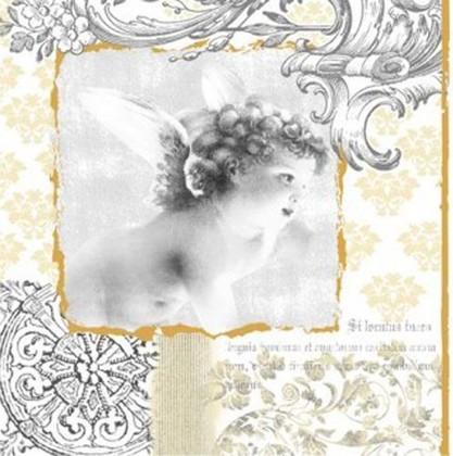 Салфетки для декупажа Ангел барокко 33x33см, 3 слоя, 20шт Paw SDL059000