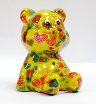 Копилка Pomme-Pidou Мишка Тэдди, мини, жёлтый 9.5x9x10.5см 148-00250/B