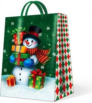 """Paw GALLANT SNOWMAN Пакет подарочный """"Снеговик"""", 30x41x12см, артикул AGB014802"""