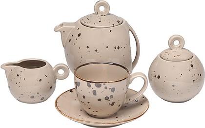 Чайный сервиз Top Art Studio Коттедж Браун, 15 предметов, 6 персон SP2698-TA