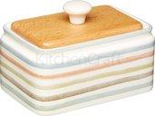 Маслёнка Kitchen Craft Classic керамическая, с деревянной крышкой, 250гр KCCCBUTTER