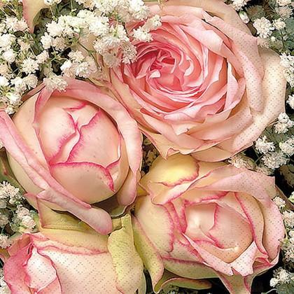 Салфетки Королевский цветок, 33x33см, 3 слоя, 20шт Paper+Design 20739
