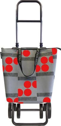 Сумка-тележка хозяйственная серо-красная Rolser LOGIC DOS+2 MINI BAG MNB019rojo