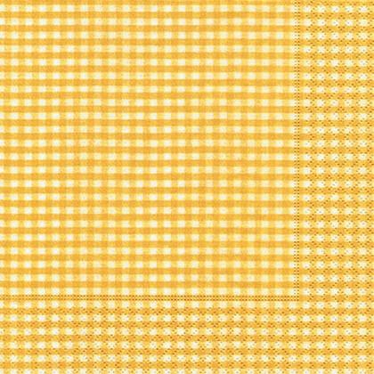 Салфетки для декупажа Paper+Design Жёлтая клетка, 33x33см, 20шт 20972