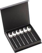 Набор чайных ложек Herdmar Vintage Ept Black, 6 предметов, зеркальная полировка, чёрная ручка 1484009TP00E16