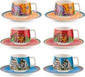 Кофейный набор EGAN Лорель Берч Песни Джунглей, 90мл, 12 предметов PLB06J/1Z