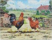 Доска разделочная стеклянная Lesser & Pavey Петушки и курочки 40x30см LP94177