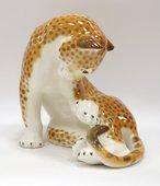 Скульптура Леопард, фарфор ИФЗ 82.00997.00.1