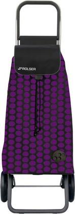 Сумка-тележка хозяйственная фиолетово-чёрная Rolser LOGIC RG PAC011lila/negro