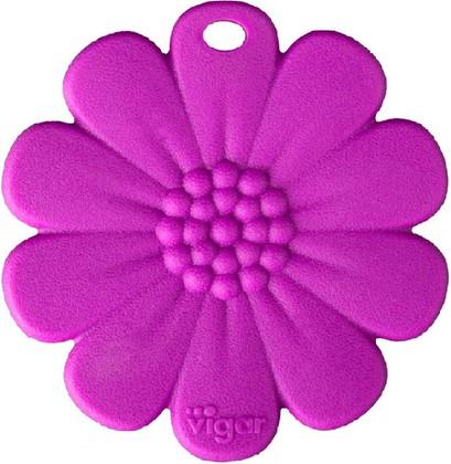 Силиконовая подставка под горячее 23см, фиолетовая Vigar Kosy 6180
