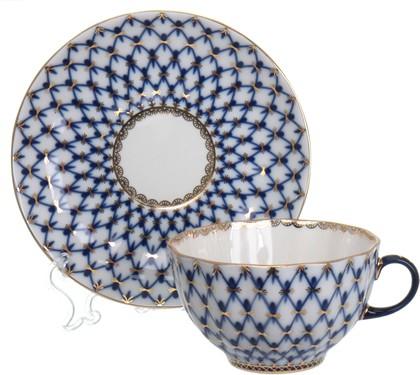 Чашка с блюдцем ИФЗ Тюльпан, Кобальтовая сетка 81.10105.00.1