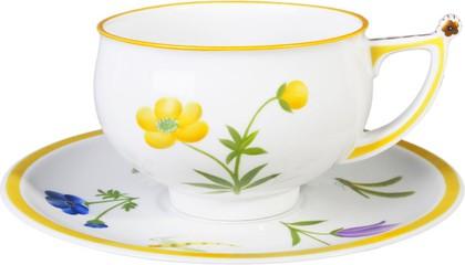 Чашка с блюдцем Таруса. Лютик, ф. Кострома ИФЗ 81.22134.00.1