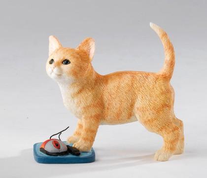 Статуэтка Котёнок с мышкой (Kitten with Mouse), 8.5см Enesco CA03260