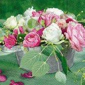Салфетки для декупажа Розовая композиция, 33x33см, 3 слоя, 20шт Paper+Design 21717