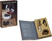 Набор аксессуаров для вина Andrea House дуб, хром CC66178