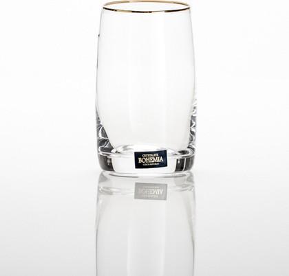 Фужеры 6шт Идеал зол. полоска 250мл вода Crystalite Bohemia 25015/250/20733K