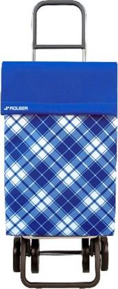 Сумка-тележка хозяйственная синяя Rolser DOS+2 JEA022azul