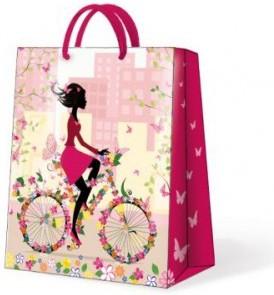 """Пакет подарочный """"Модница"""" розовый 20x10x25см Paw AGB019603"""