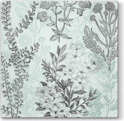 Салфетки для декупажа Старый гербарий, 33x33, 20шт Paw SDL095200