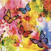 Салфетки для декупажа Мир красок, 33x33см, 3 слоя, 20шт Paper+Design 21673