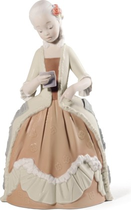 Статуэтка фарфоровая Юная дама рококо (Rococo Girl With Letter) 25см NAO 02001720