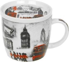 Кружка Lesser & Pavey Лондон 350мл, с подставкой LP19865
