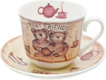 Чайная пара для завтрака Друзья 500мл Roy Kirkham XOLDF1100