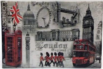 Магнит на холодильник Лондон 8x5.5см Leonardo Collection LP16584