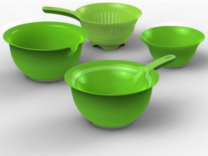 Набор дуршлаг и 2 миски 1.0л и 3.0л, зелёный Zyliss E970018