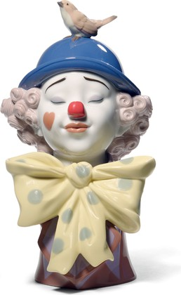 Статуэтка фарфоровая Клоун с птичкой (A Clown's Friend) 27см NAO 02001721
