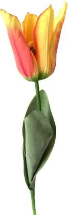 Цветок искуственный Тюльпан Фаворит оранжевый 58см живое прикосновение Top Art Studio WAF1268-TA