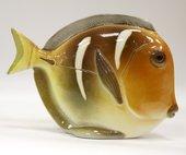 Скульптура Рыба-диск Жёлтый, фарфор ИФЗ 82.50098.00.1