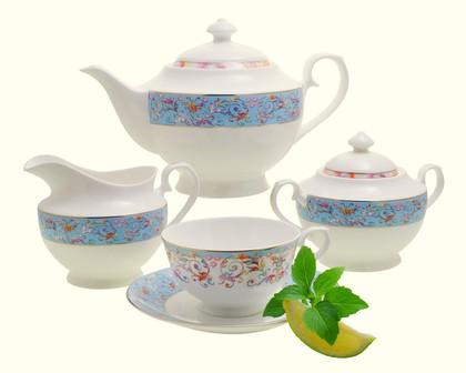 Чайный сервиз Роял Селеста 15 предметов Top Art Studio YF1211-TA
