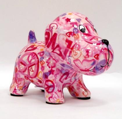 Копилка мини Собачка, розовый 13.5x8.5x10см Pomme-Pidou 148-00249/B