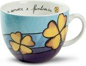 Чашка для завтрака EGAN Любовь и фантазия Синяя, 600мл PAF03/1C