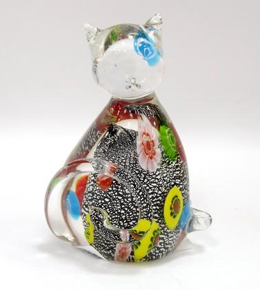 Фигурка Серебряный котёнок 7x11.5см Top Art Studio ZB1530-TA