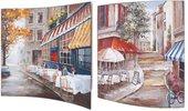 Модульная картина Top Art Studio Городское кафе 38x38см, пара, дерево, лак WDP1762-TA