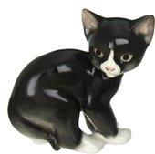 Статуэтка ИФЗ Кошка чёрная, 13.5см, фарфор 82.51744.00.1