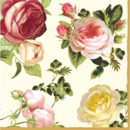 Салфетки для декупажа, 3 слоя, Розалия, 33x33см, 20шт Paw 192011