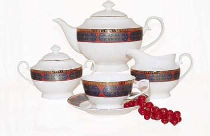 Чайный сервиз Астерия Голд 15 предметов Top Art Studio YF1207-TA