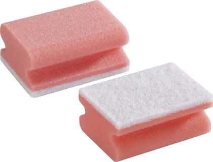 Губка мягкая для чистки деликатных поверхностей, 2шт. Leifheit 40016