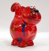 Копилка Pomme-Pidou Кошка, мини, красный 11.5x6.8x11.7см 148-00248/B