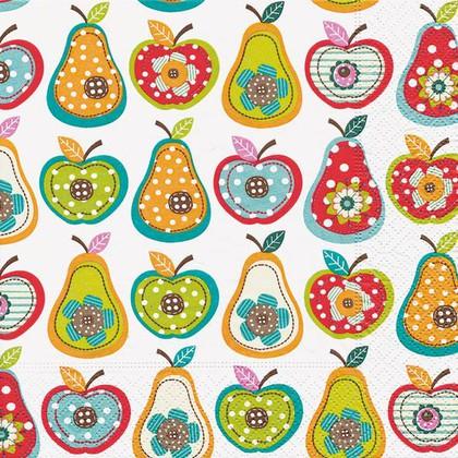 Салфетки для декупажа Яблоки и груши, 33x33см, 3 слоя, 20шт Paper+Design 21431