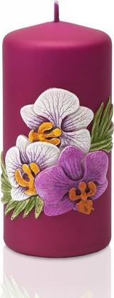 Свеча Орхидея матовая, колонна 6x13см Bartek Candles 5901685024471