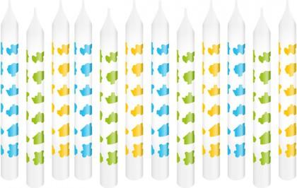 Свечи для торта с подставками 8см, 12шт. Tescoma DELICIA KIDS 630980.30
