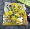 Салфетки для декупажа Цветущий нарцисс, 33x33см, 3 слоя, 20шт Paper+Design LN0387
