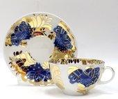 Чашка с блюдцем Золотой сад, ф. Тюльпан ИФЗ 81.10006.00.1