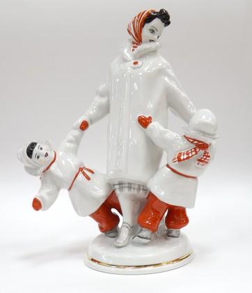 Скульптура Близнецы, Дулёвский фарфор ДС1701