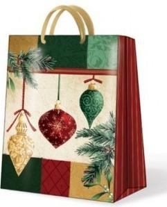"Пакет подарочный ""Новогодняя роскошь"" 20х10х25см Paw AGB017103"